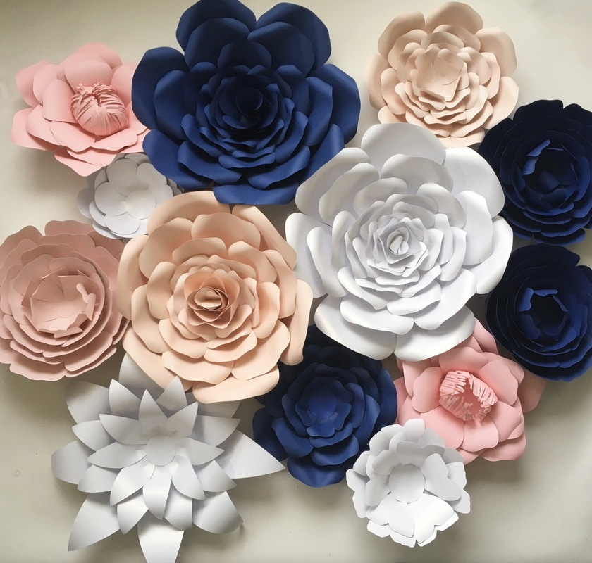 Calgary paper flowers prairie love consists of 13 flowers ranging from size small to medium with the addition of paper leaves mightylinksfo